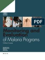 M&E Malaria Programs