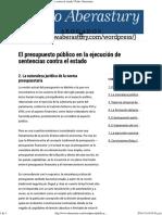 2-El Presupuesto Público en La Ejecución de Sentencias Contra El Estado _ Pedro Aberastury