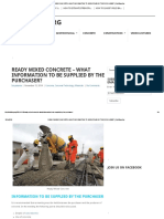 Ready Mixed Concrete – What Information to Be Supplied by the Purchaser_ _ Civilblog
