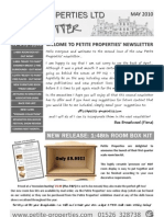 Newsletter May 2010