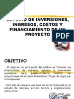 Estudio de Inversiones, Ingdresos, Costos y 3secundaria