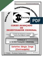 Módulo 1 - Curso Avançado de Investigador Criminal