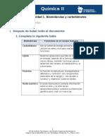 MV-U2- Actividad 1. Biomoléculas y Carbohidratos -Química II