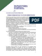 Documento Formas Farmaceuticas y Vias de Administracion 2016