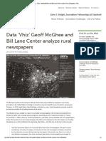 Data 'Vhiz' Geoff McGhee and Bill Lane Center Analyze Rural Newspapers _ JSK