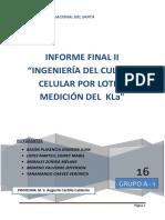 Informe Final 2 Ingenieria Del Cultivo Celular Por Lotes y Medicion Del Kla