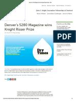 Denver's 5280 Magazine Wins Knight Risser Prize _ JSK