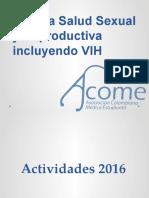 Vocalía Salud Sexual y Reproductiva Incluyendo VIH