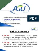 Aplicação de Penalidades - Contratos Administrativos
