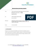 Informe de Instalacion Del Equipo