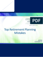 PSFG Top Retirement Planning Mistakes