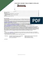 Resumen y Tablas de Combate en Castellano Para TPFRPG - Referencia (PDF, A4, 17 Paginas)
