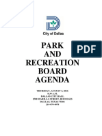 City of Dallas Parks and Recreation Board Agenda