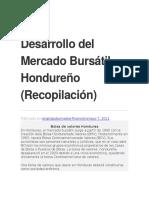 Desarrollo Del Mercado Bursátil Hondureño