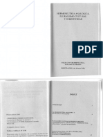Hermeneutica Analogica Pluralismo Cultural y Subjetividad