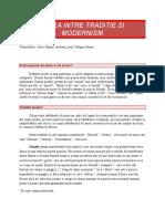 Calea Intre Traditie Si Modernism(1)