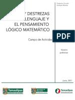 Campo Juego Destrezas Lenguaje Matemtico