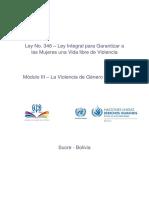 001Módulo III – La Violencia de Género en Bolivia