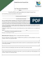 student excursion consent form