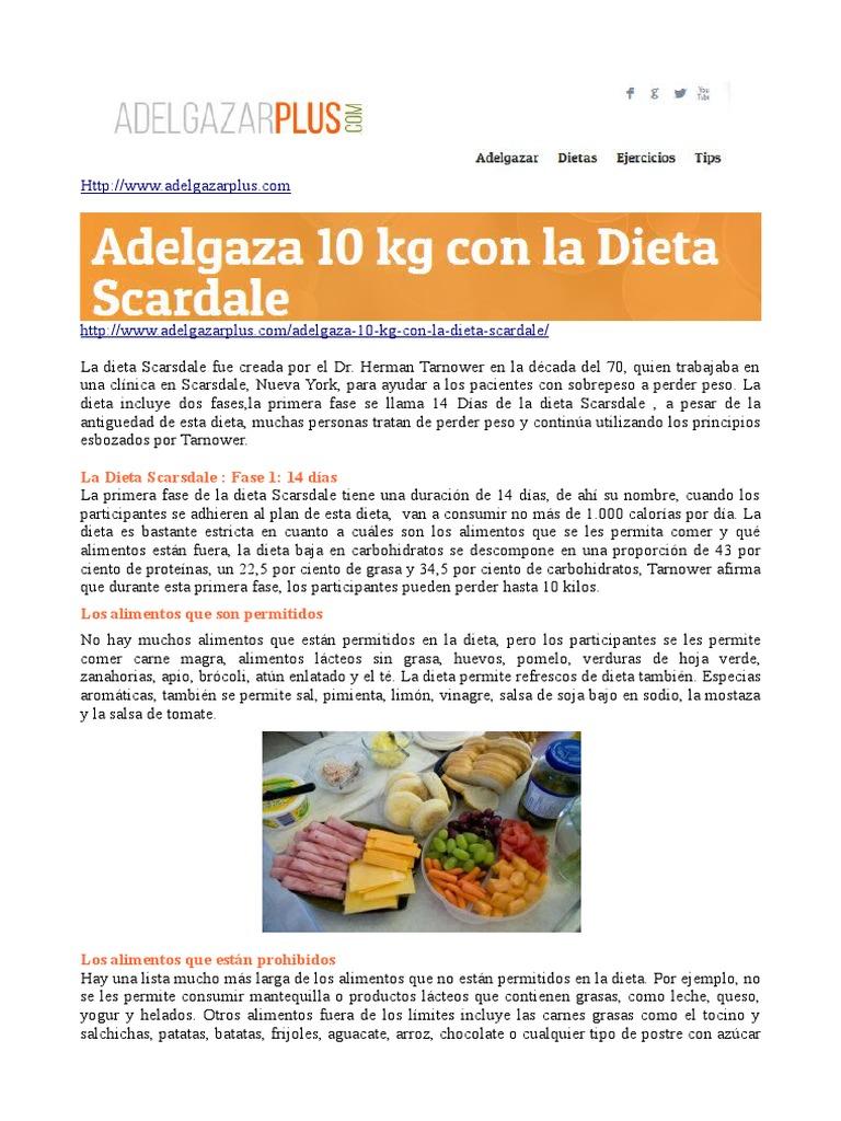 dieta medica scarsdale dr herman tarnower