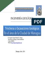 Trincheras Geologicas Caso Managua