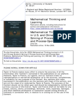 Mathematical Thinking and Learning Volume 2 Issue 4 2000 [Doi 10.1207%2FS15327833MTL0204_4] Cai, Jinfa -- Mathematical Thinking Involved in U.S. and Chinese Students' Solving of Process-Constrained An