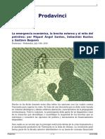 La Emergencia Economica La Brecha Externa y El Mito Del Petroleo Por Miguel Angel Santos Sebastian Bustos y Gustavo Baquero