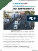 25-04-16 Reúne a Sonorenses Manifestación ExpoGan