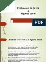 Evaluación de La Voz e Higiene Vocal