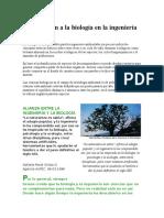 Introducción a La Biología en La Ingeniería Ambiental