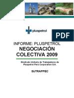Informe sobre situaciòn de Pluspetrol para Negociaciòn Colectiva 2009