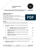 NEBOSH IGC1 Past Exam Paper March 2012