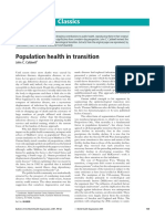 Population Health in Transition