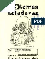 Folklore Toledano. Lirica
