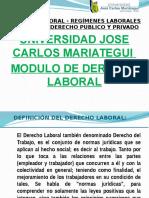 Regimenes Laborales en El Perú 2013