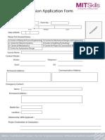 MITSkills Admission Form