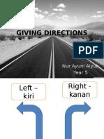Giving Directions Ayuni