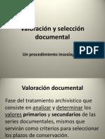 Valoración y Selección de Documentos