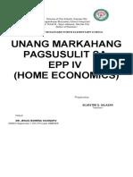 1st Periodical Test in Epp IV Home Economics