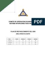 Plan de Restablecimiento Operativo Zona Norte SEIN