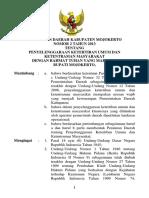 Peraturan Daerah 2 tahun 2013