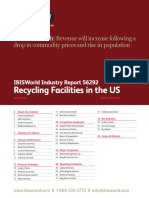 56292 Recycling Facilities in the US Industry Report