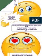 PP Kurikulum TK Tahun 1976,1984,1994,Dan 2004