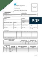 Employement Application Form 2014