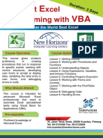 Brochure-Microsoft Excel Programming With VBA