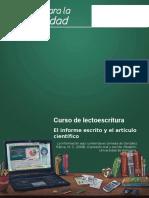 Lecto-13-El Informe Escrito y El Articulo Científico