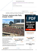 Trump's Jacksonville Rally Draws 15,000