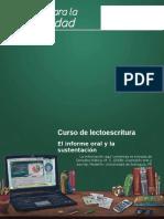 Lecto-14-El Informe Oral y La Sustentacion