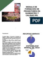 Modulo de Formación de Promotores en Suministro y Calidad Del Agua