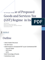 Overview of Proposed GST in India 7Mar2014